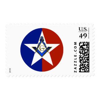 Texas Stars Stamp