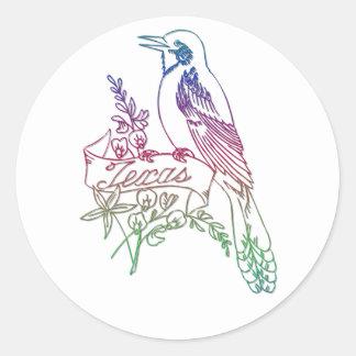 Texas State Bird - The Mockingbird Classic Round Sticker