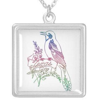 """Texas State Bird - The Mockingbird"" Necklace"