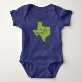 Texas State Bodysuit, Locally Grown in Texas Baby Bodysuit