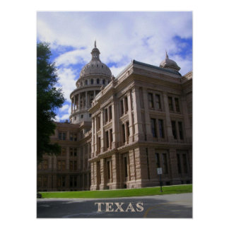 Texas State Capitol Building Poster