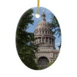 Texas State Capitol Ceramic Ornament