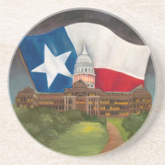 TEXAS State Capitol Original Award Winning Artwork Coaster