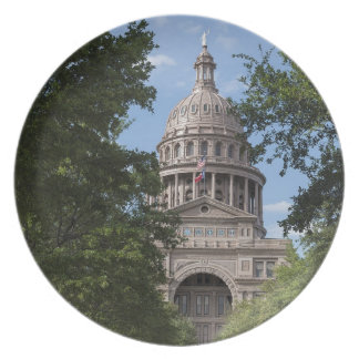 Texas State Capitol Party Plate