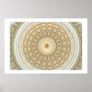 Texas State Capitol Rotunda Poster