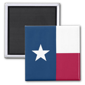 Texas State Flag 2 Inch Square Magnet