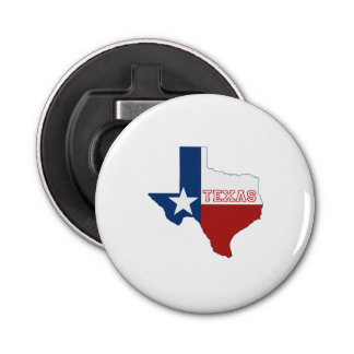 Texas State Flag and Map Bottle Opener