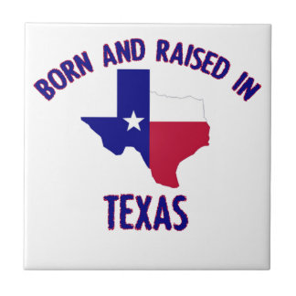 Texas state flag and map designs ceramic tile