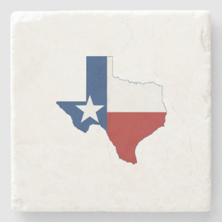 Texas State Flag and Map Stone Beverage Coaster