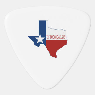 Texas State Flag and Map Guitar Pick