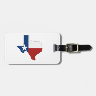 Texas State Flag and Map Luggage Tag