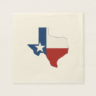 Texas State Flag and Map Napkin