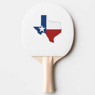 Texas State Flag and Map Ping-Pong Paddle