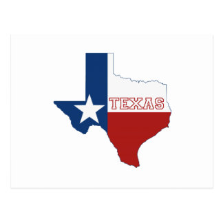 Texas State Flag and Map Postcard