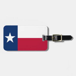 Texas State Flag Bag Tag