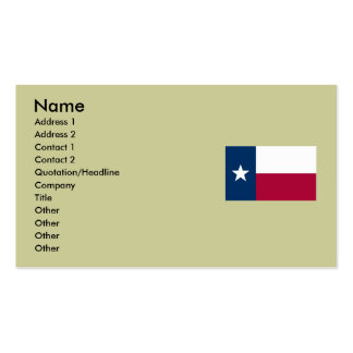Texas State Flag Double-Sided Standard Business Cards (Pack Of 100)