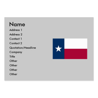 Texas State Flag Large Business Cards (Pack Of 100)
