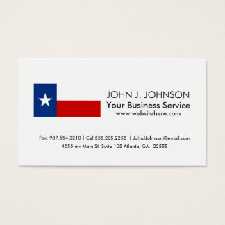 Texas State Flag Business Card