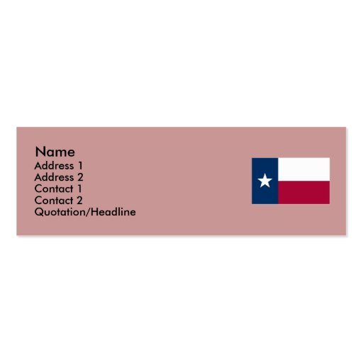 Texas state flag double sided mini business cards pack of for Patriotic business card template