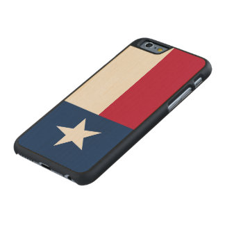 Texas State Flag Carved® Maple iPhone 6 Slim Case