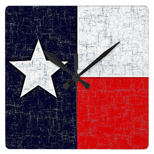 TEXAS STATE FLAG Clock