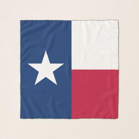 Texas state flag custom chiffon scarf