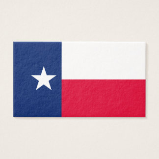 Texas State Flag Design Business Card