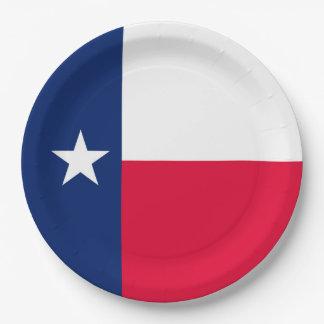 Texas State Flag Design Decor Paper Plate
