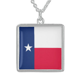 Texas State Flag Design Sterling Silver Necklace
