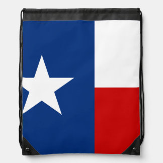Texas State Flag Drawstring Backpack