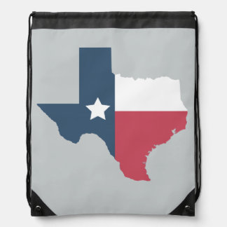 Texas State Flag Drawstring Bag