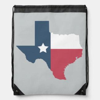 Texas State Flag Drawstring Bag