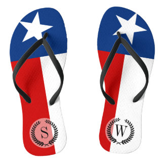 Texas State Flag Flip Flops