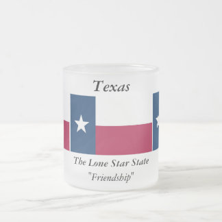 Texas State Flag Frosted Glass Coffee Mug