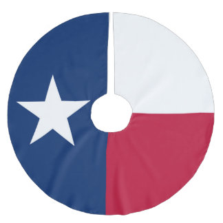 Texas state flag - high quality authentic color brushed polyester tree skirt