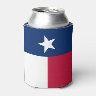Texas state flag - high quality authentic color can cooler