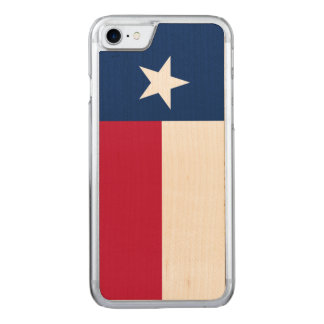Texas state flag - high quality authentic color carved iPhone 7 case