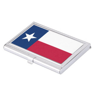 Texas state flag - high quality authentic color case for business cards