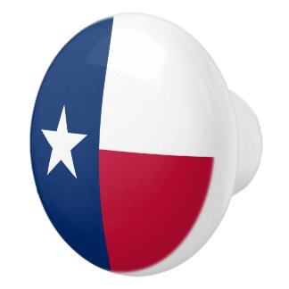 Texas state flag - high quality authentic color ceramic knob