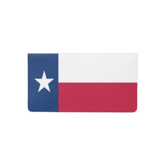 Texas state flag - high quality authentic color checkbook cover