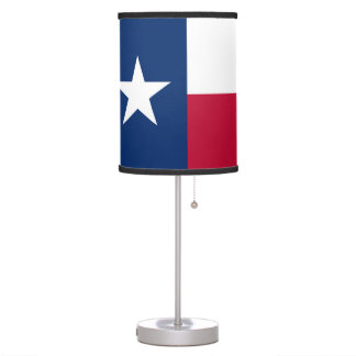 Texas state flag - high quality authentic color desk lamp