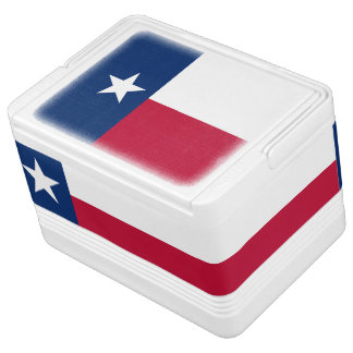 Texas state flag - high quality authentic color drink cooler