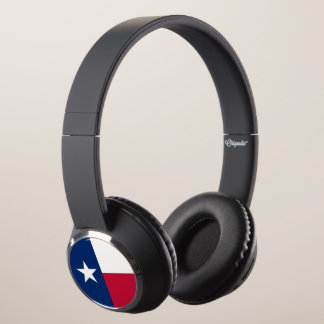 Texas state flag - high quality authentic color headphones