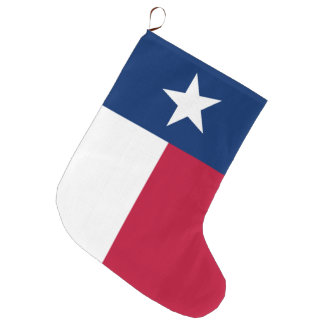 Texas state flag - high quality authentic color large christmas stocking