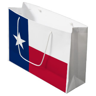 Texas state flag - high quality authentic color large gift bag