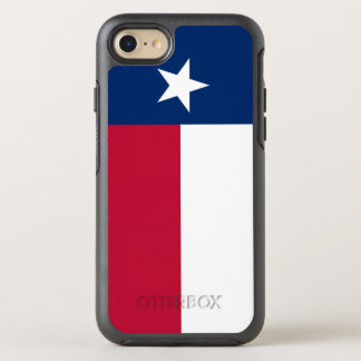 Texas state flag - high quality authentic color OtterBox symmetry iPhone 7 case