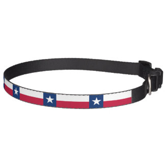 Texas state flag - high quality authentic color pet collar