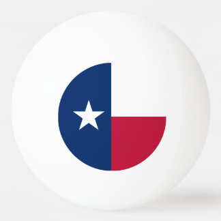Texas state flag - high quality authentic color ping pong ball
