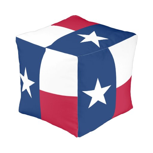 Texas State Flag High Quality Authentic Color Pouf Zazzle