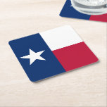 "Texas state flag - high quality authentic color square paper coaster<br><div class=""desc"">The Texas flag is known as the &quot;Lone Star Flag&quot; (giving rise to the state&#39;s nickname &quot;The Lone Star State&quot;). This flag was introduced to the Congress of the Republic of Texas on December 28, 1838, by Senator William H. Wharton. It was adopted on January 25, 1839 as the final...</div>"